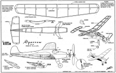 Sparrow - A4 model airplane plan